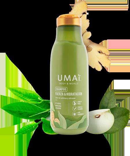 Ingredientes - Colección Té Verde - Manzana - Jengibre UMAI Body and World